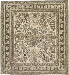 Antique Hamadan Square Rug, No. 21432 - Galerie Shabab