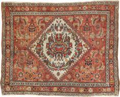 Antique Fereghan Rug, No. 21684 - Galerie Shabab