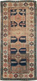 Antique Distressed Kazak Rug, No. 21824 - Galerie Shabab