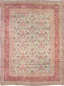 Antique Mashad Distressed Carpet, No. 21832 - Galerie Shabab