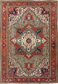 Antique Heriz Carpet, No. 21858 - Galerie Shabab
