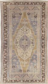 Vintage Oushak Carpet, No. 21925 - Galerie Shabab