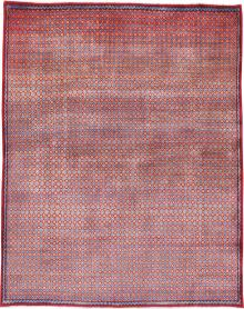 Vintage Kashan Modernist Rug, No. 22049 - Galerie Shabab