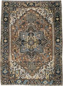 Semi-Antique Heriz Carpet, No. 22064 - Galerie Shabab