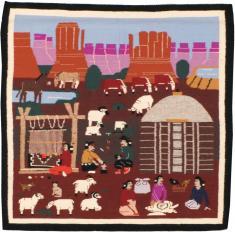 Vintage Navajo Rug, No. 22102 - Galerie Shabab