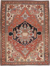 Antique Heriz Rug, No. 22140 - Galerie Shabab