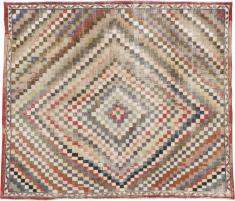Vintage Anatolian Square Carpet, No. 22374 - Galerie Shabab