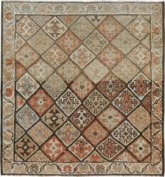 Antique Kurdish Square Rug, No. 22534 - Galerie Shabab