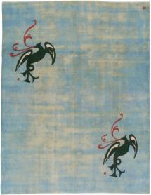 Vintage Mashad Modernist Carpet, No. 22909 - Galerie Shabab