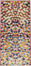 Vintage Kashan Modernist Rug, No. 22985 - Galerie Shabab