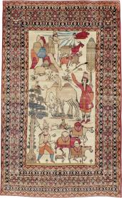 Antique Kerman Pictorial Rug, No. 23102 - Galerie Shabab