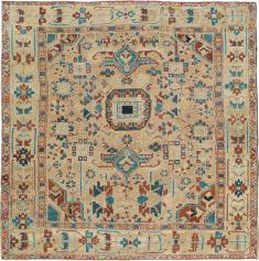 Antique Heriz Square Carpet, No. 23118 - Galerie Shabab