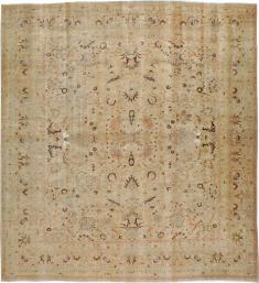 Antique Mashad Square Carpet, No. 23194 - Galerie Shabab