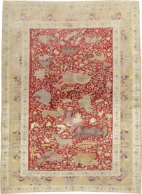 Antique Kayseri Pictoral Rug, No. 23691 - Galerie Shabab