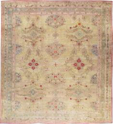 Antique Turkish Oushak Carpet, No. 23706 - Galerie Shabab
