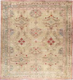 Antique Turkish Oushak Carpet, No. 23706 - Galerie Shabab