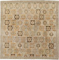 Antique Malayer Square Carpet, No. 23800 - Galerie Shabab