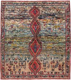 Vintage Gabbeh Square Rug, No. 23955 - Galerie Shabab