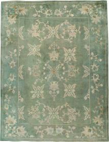 Antique Oushak Carpet, No. 24032 - Galerie Shabab