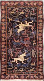 Vintage Baluch Rug, No. 24056 - Galerie Shabab