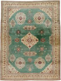 Antique Agra Distressed Carpet, No. 24333 - Galerie Shabab