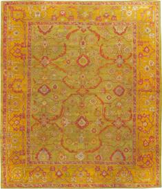 Vintage Oushak Turkish Carpet, No. 24476 - Galerie Shabab