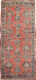 Antique Oushak Gallery Carpet, No. 24548 - Galerie Shabab