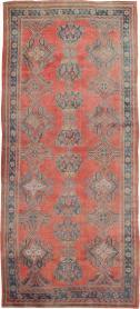 Antique Oushak Gallery Carpet, No. 24548 - Galerie Shabab