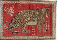 Antique Karabagh Pictorial Rug, No. 24589 - Galerie Shabab