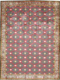 Vintage Agra Rug, No. 24652 - Galerie Shabab