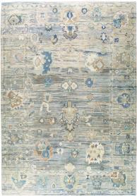 Turkish Oushak Carpet, No. 24861 - Galerie Shabab