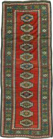 Antique Kazak Runner, No. 25053 - Galerie Shabab