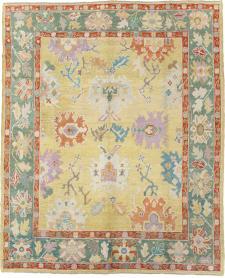 Vintage Inspired Oushak Carpet, No. 25430 - Galerie Shabab