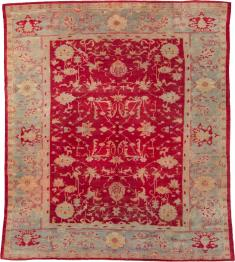 Antique Oushak Carpet, No. 25853 - Galerie Shabab